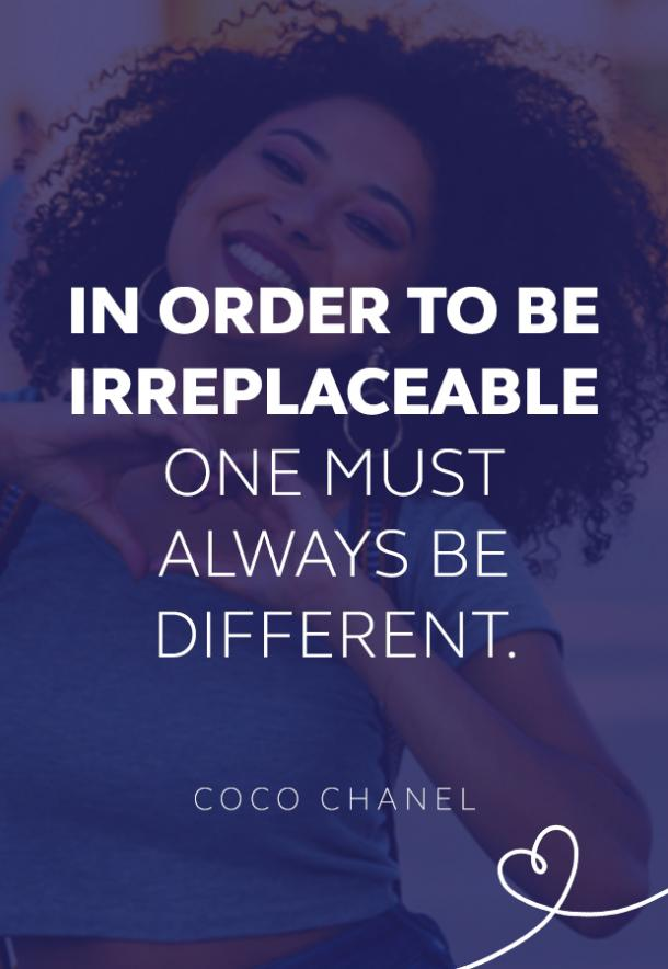 Coco Chanel quote about being different