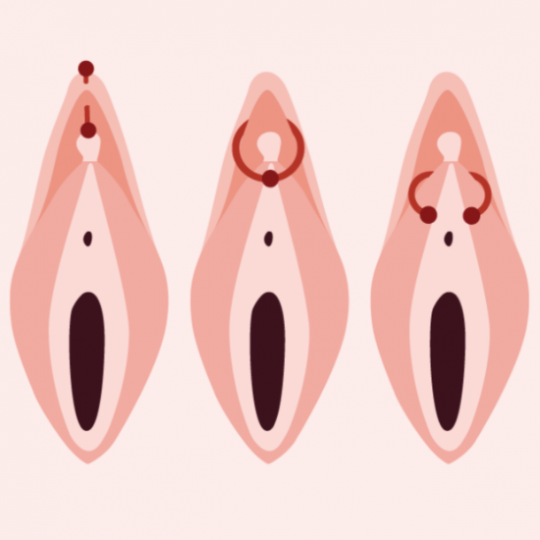 clit piercing diagram