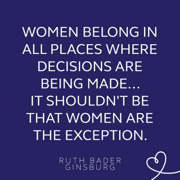 feminist quotes about womens equality by ruth bader ginsburg
