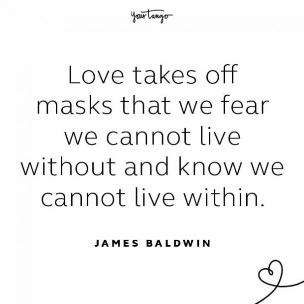 James Baldwin stay together quote