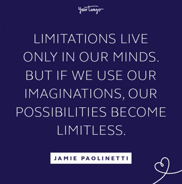 Jamie Paolinetti follow your dreams quote