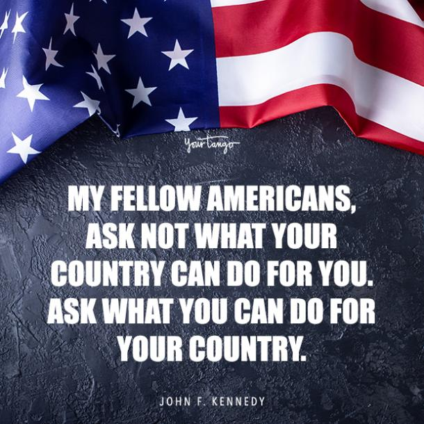 John F Kennedy hero quote for Memorial day