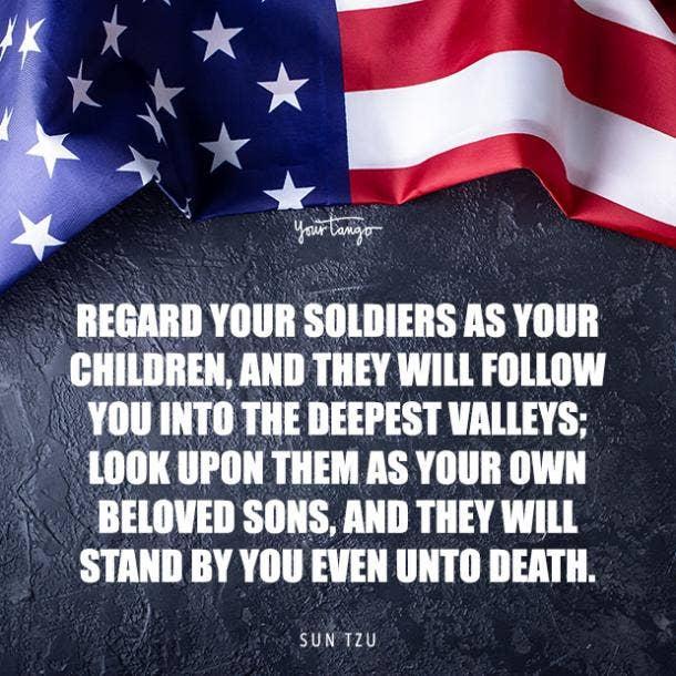sun tzu hero quote for Memorial day