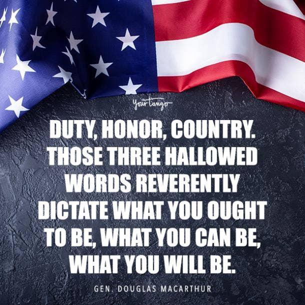 Douglas Macarthur Memorial Day hero quote