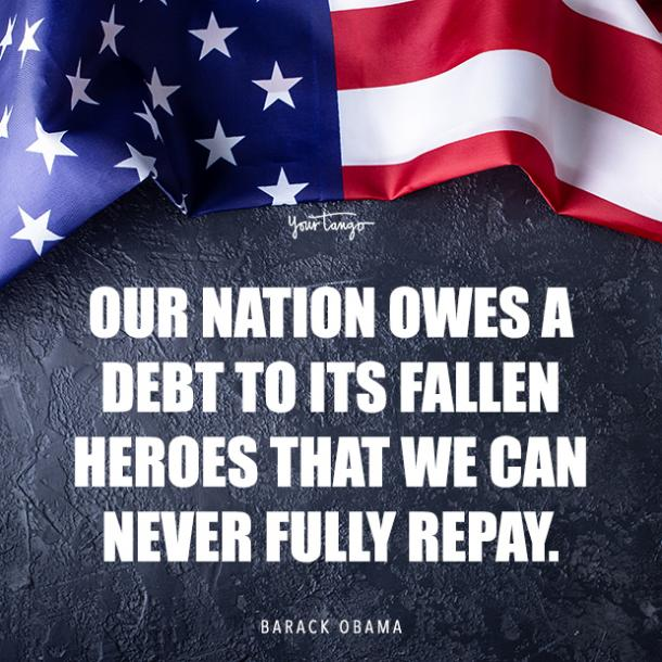 Barack Obama Memorial Day quote about heroes