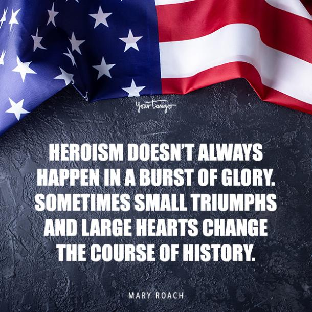 Mary Roach hero quote for Memorial day