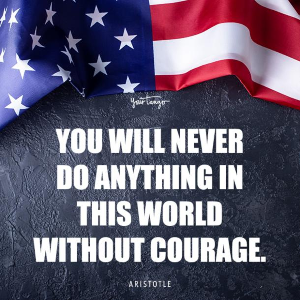 Aristotle Memorial Day Thank You quote about heroes