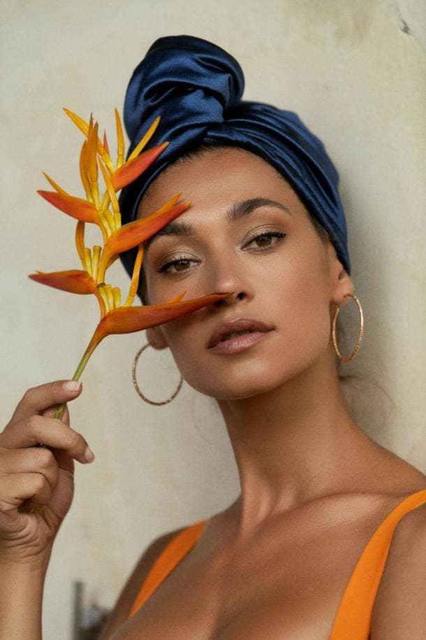 Mauves Royal Azure Hair Turban