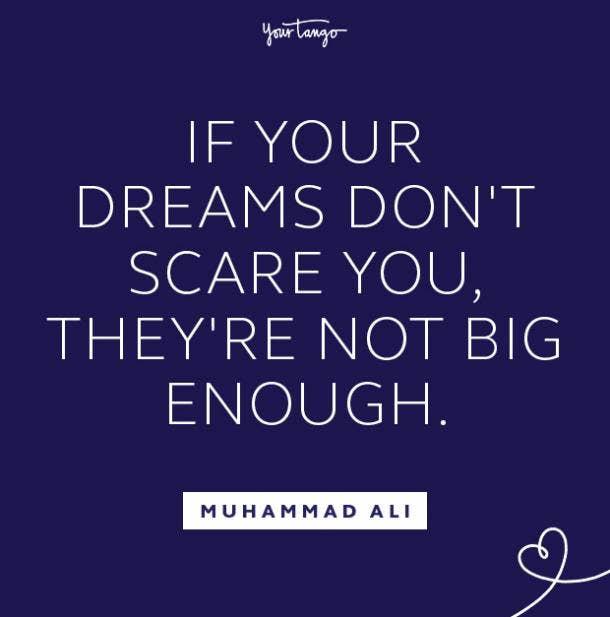 Muhammad Ali follow your dreams quote