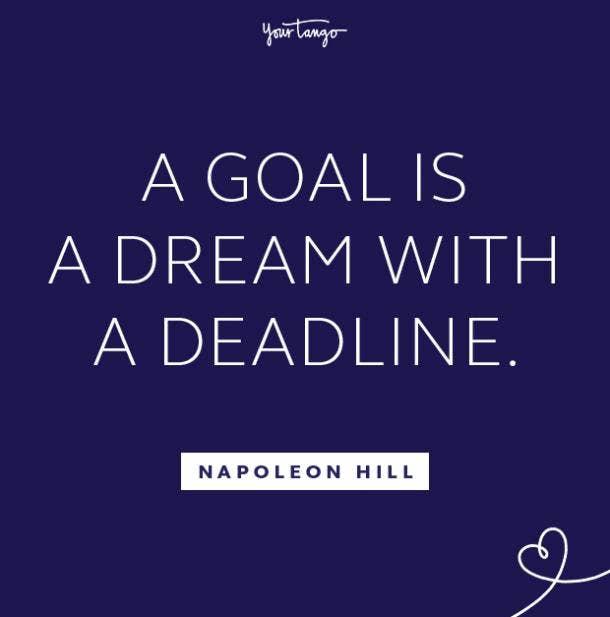 Napoleon Hill follow your dreams quote