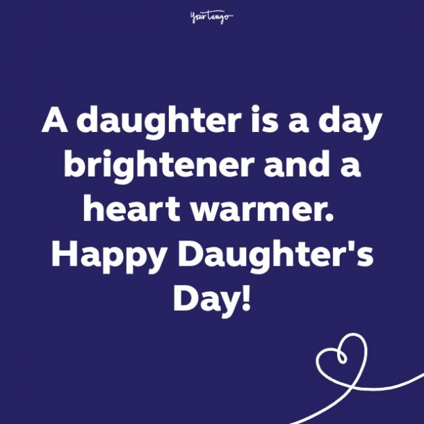 National Daughter's Day quote