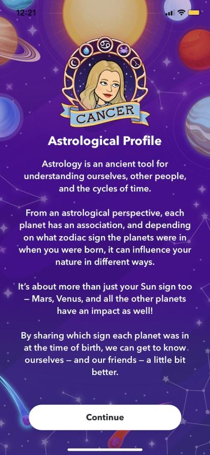 step 3 how to find your birth chart on snapchat