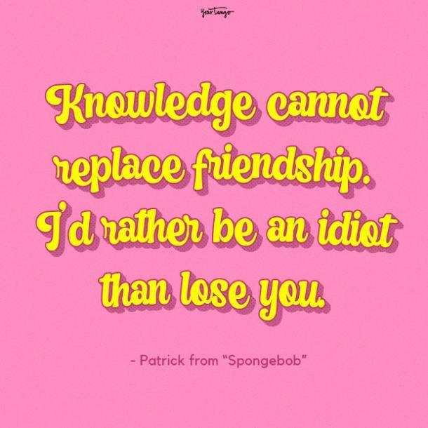 Patrick star Spongebob funny friendship quotes