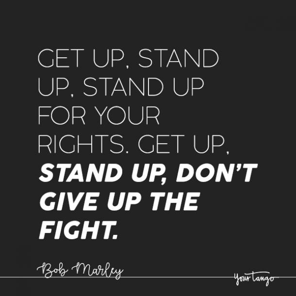 Bob Marley quote about fighting for what you want