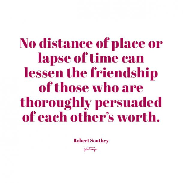Robert Southey long distance friendship quotes