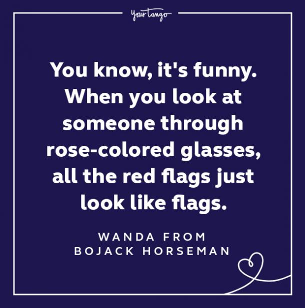 Red Flag Rose Colored Glasses