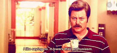 ron swanson saying no quote