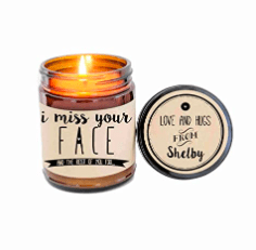 i miss your face candle long distance gift idea