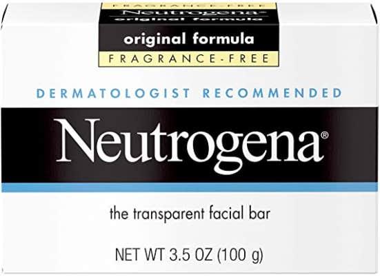 neutrogena original fragrance free cleansing bar for soap brows