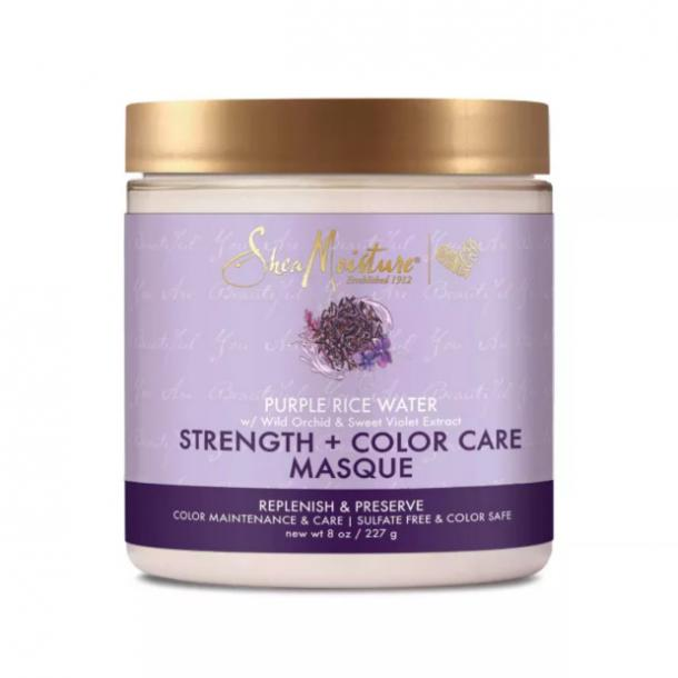 SheaMoisture Strength + Color Care Treatment Masque with Purple Rice Water best toners for blonde hair