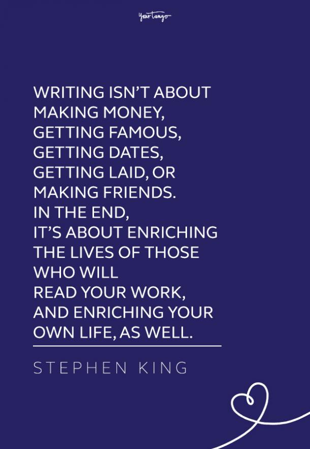 Stephen King quote about writing