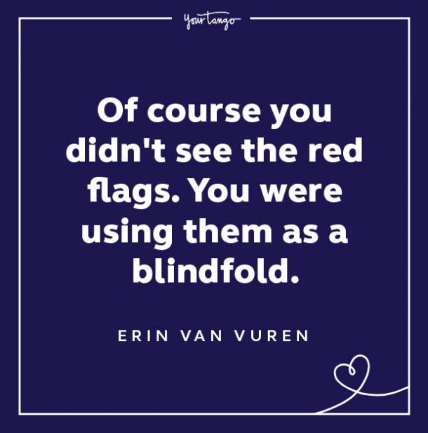 Red Flag Quote Blindfold