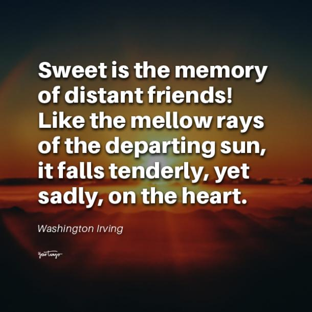 Washington Irving long distance friendship quotes
