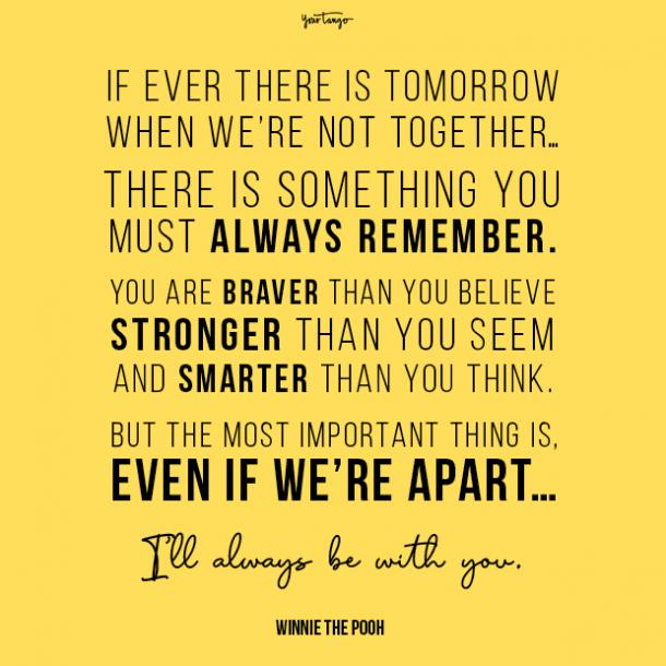 Winnie the Pooh long distance friendship quotes