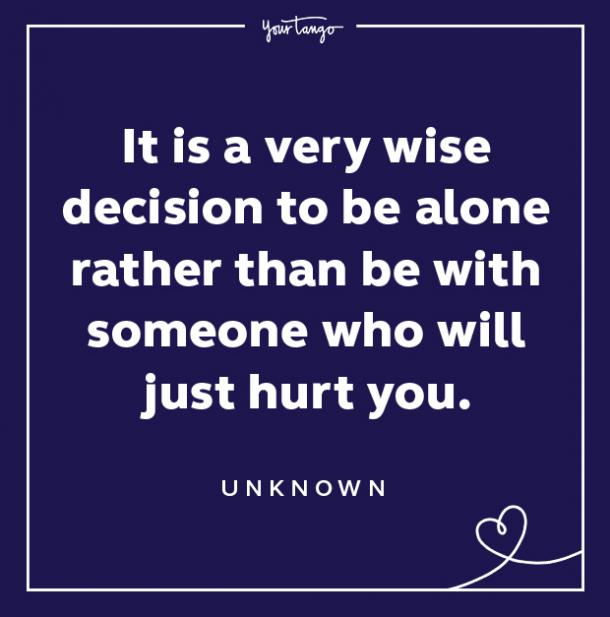Red Flag Quote Wise Decision To Be Alone