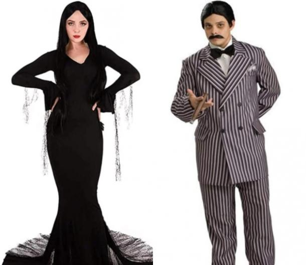 morticia and gomez addams family costume