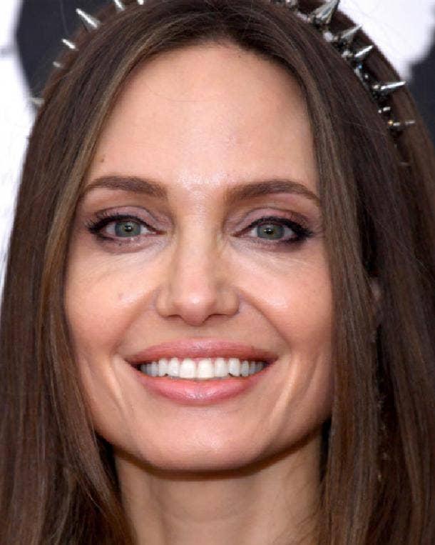 Angelina Jolie rectangle face shape