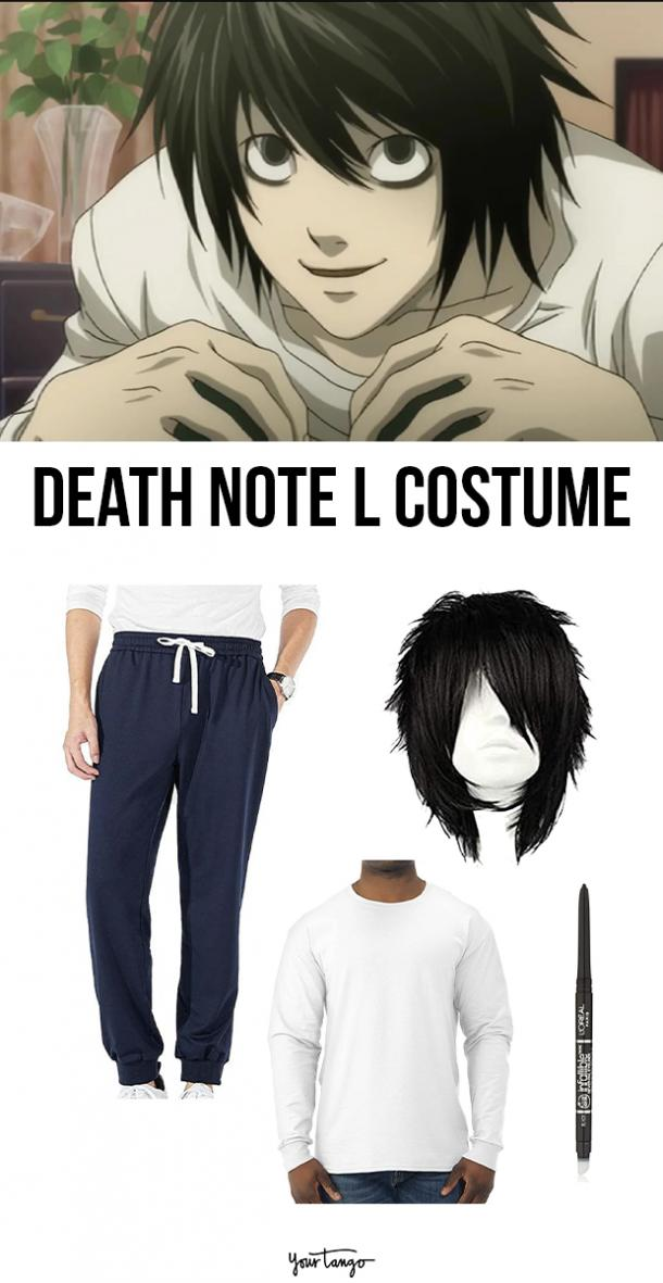 L White Tee Death Note Halloween Costume