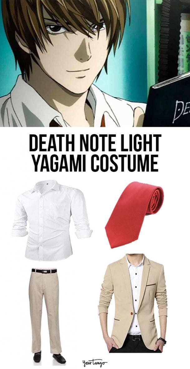 Light Yagami Tan Suit Death Note Costume