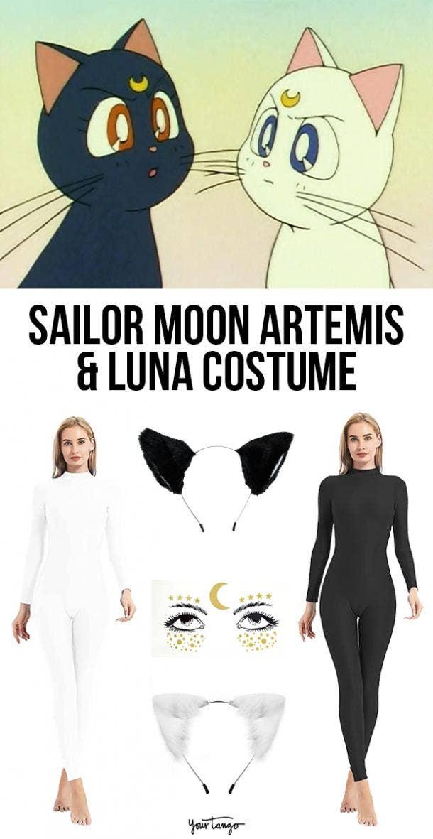 Artemis & Luna Sailor Moon Cat Anime Halloween Costume Ideas