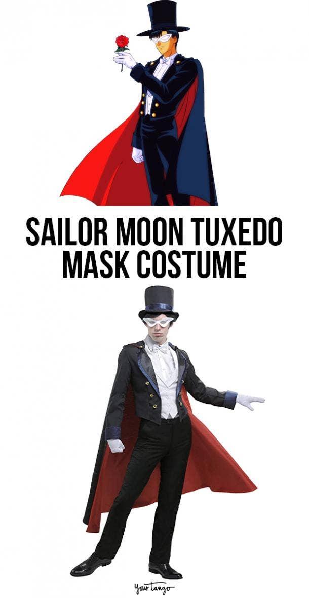 Tuxedo Mask Mamoru Chiba Black Transformation Costume