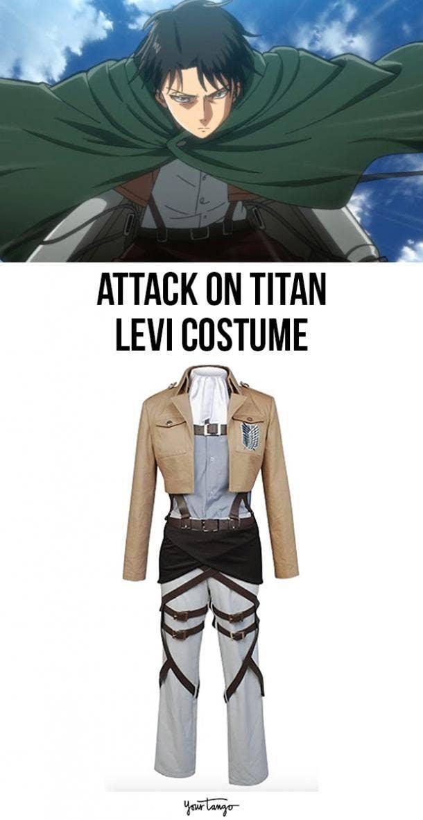 Levi Ackerman Survey Corps Uniform Halloween Costume