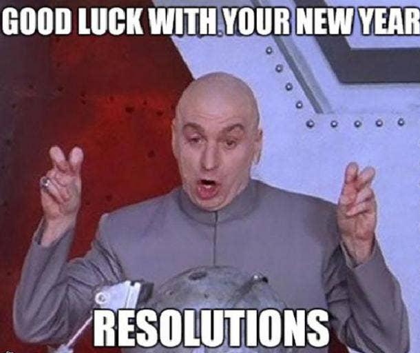 Austin Powers funny new year meme