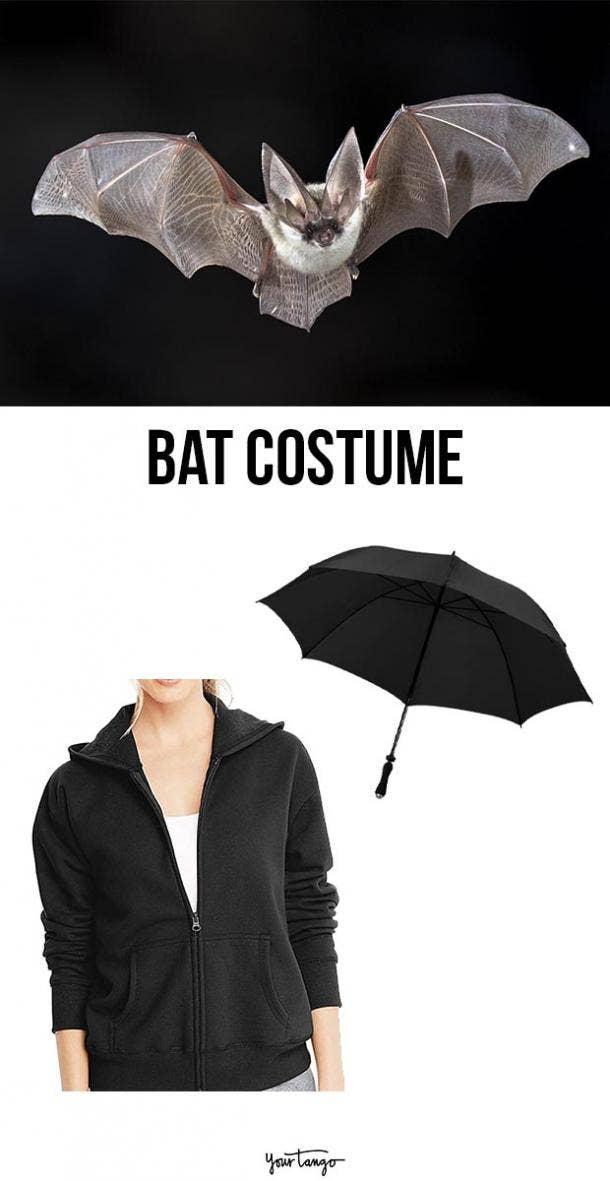 bat last minute halloween costumes