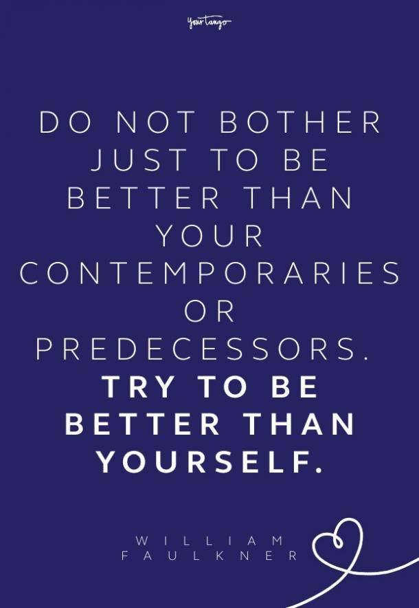 william faulkner be better quote