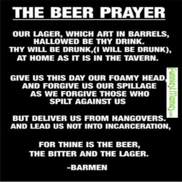 beer memes the beer prayer