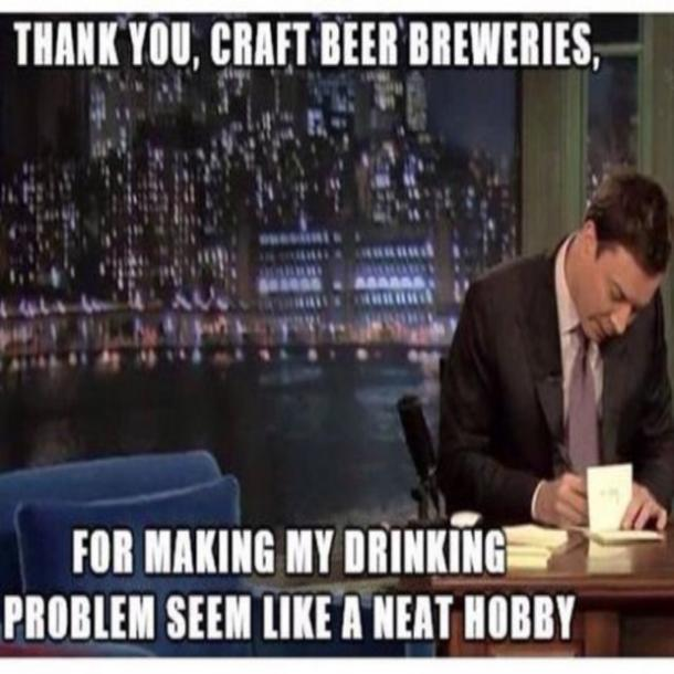 beer memes thank you, craft beer breweries jimmy fallon