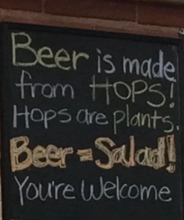 beer memes Beer equals salad