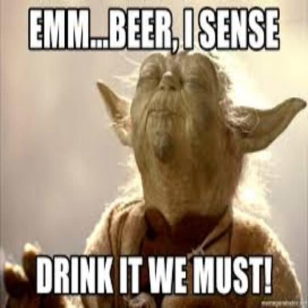 beer memes sense drink it we must yoda