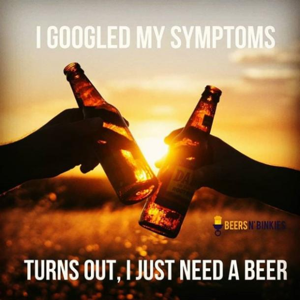 beer memes googled my symptoms