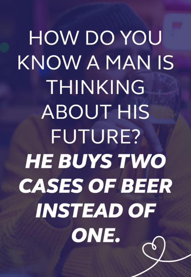 beer memes man is thinking about his future