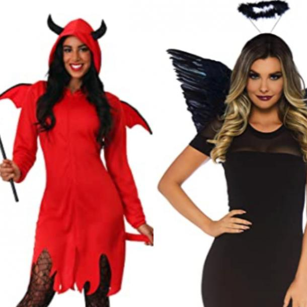 angel and devil best friend halloween costumes