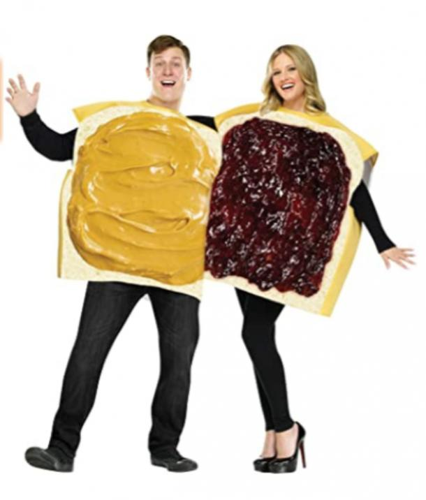 peanut butter and jelly best friend halloween costume set