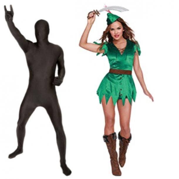 Peter Pan costume and shadow onesie