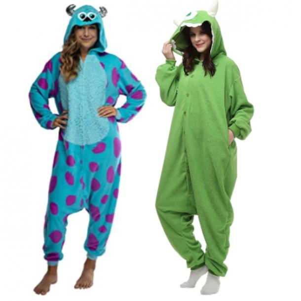 Monsters Inc Sully and Mike Waszowski best friend halloween costumes