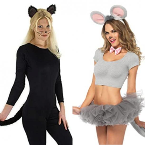 cat costume, mouse costume